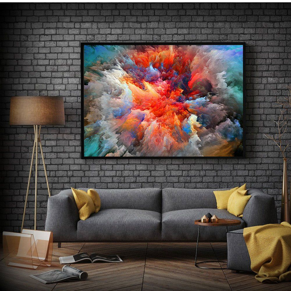 Chenfart Large Abstract Art Canvas Poster Art Landscape Oil Painting Cloud Print Colorful Wall Pictur Large Wall Pictures Room Posters Dining Room Paint Colors