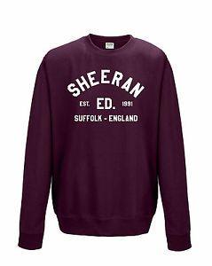 "ED SHEERAN ""COLLEGE LOGO"" ED 1991 SWEATSHIRT SWEATER SWEAT TOP ALL COLOURS/SIZES | eBay"