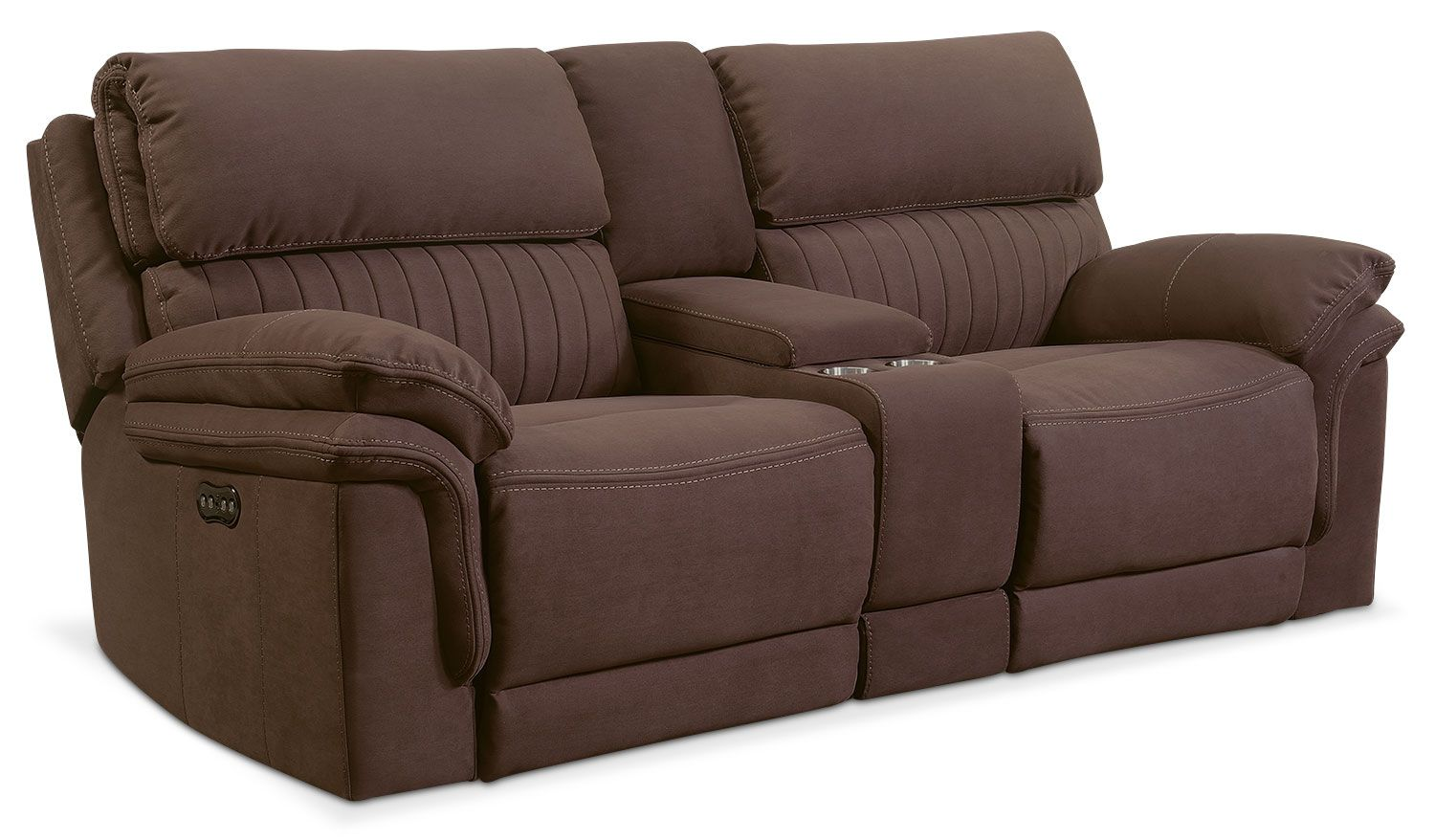 Living Room Furniture Monterey 3 Piece Power Reclining Sofa With Console Mocha Power Reclining Sofa Power Reclining Loveseat Love Seat