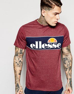 afd9b965 Ellesse T-Shirt With Panel Logo | Tees & Tops | Ellesse, Mens tops ...