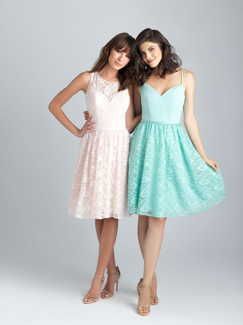Click To Flirty Bridesmaid Dresses Chiffon A Line Knee Length Liques