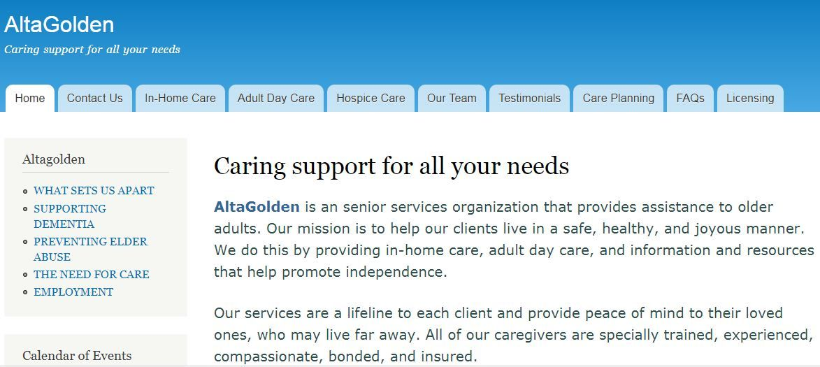 We are offering services home caregivers in San Diego and