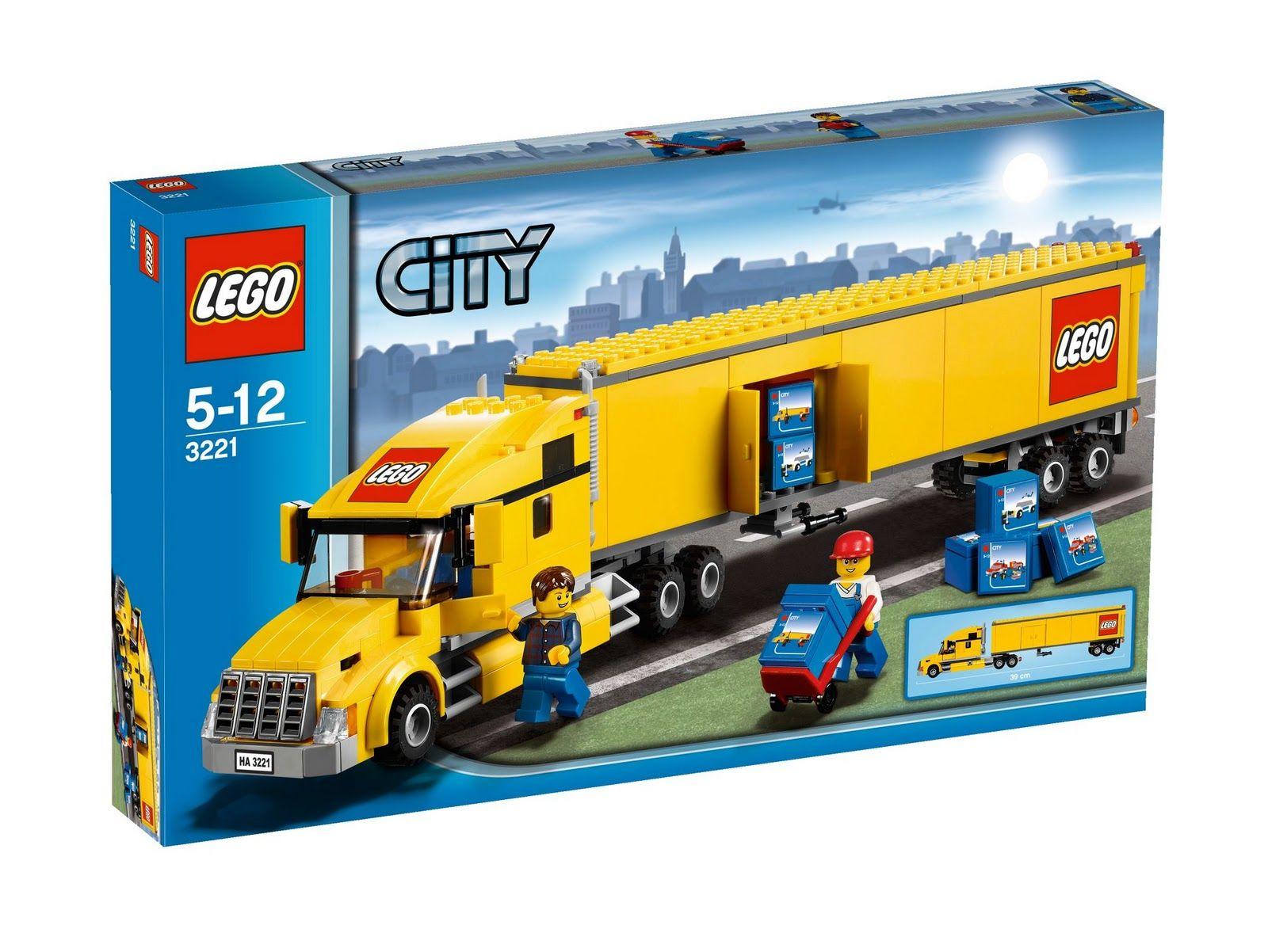 Www Onetwobrick Net Lego Set Database 3221 Lego 174 City Truck Lego Truck Lego City Lego City Sets