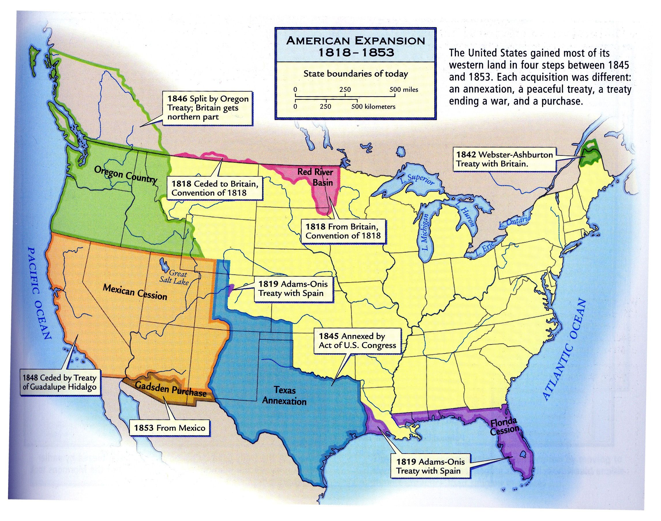 American Expansion Map United States Mappery FTA - Us westward expansion map