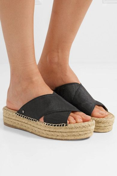 d11583c7a Sole measures approximately 45mm/ 2 inches with a 35mm/ 1.5 inches platform  Black dupion Slip on Imported