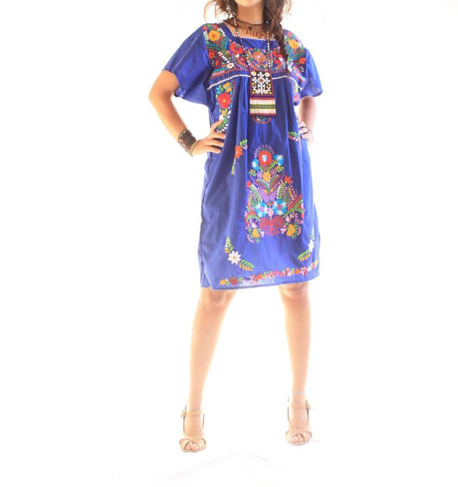 Blue Mexican Dresses