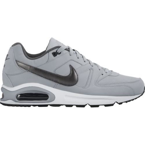 NIKE Baskets Air max Command Leather Homme Gris clair ...