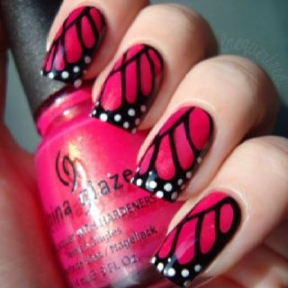 pink monarch nails