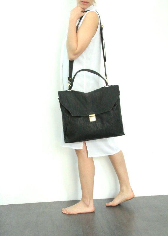 Dark Emerald Green Messenger Bag Satchel bag by LadyBirdesign