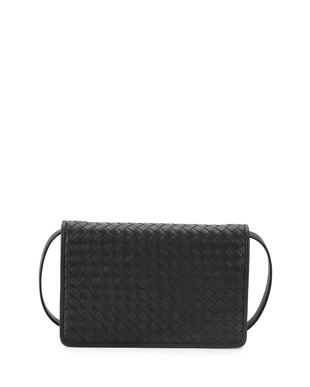 3df992a5b50c28 Intrecciato Medium Clutch Bag w/Strap Black | *Handbags, Wallets ...