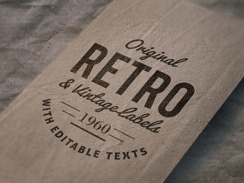 Retro Logo Mockup Free Download Free Logo Mockup Logo Mockup Mockup Free Download