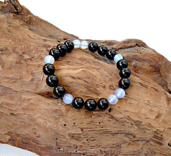 Natural New Sri Lanka Moonstone Elastic Bracelet Bangle7.5/'/'