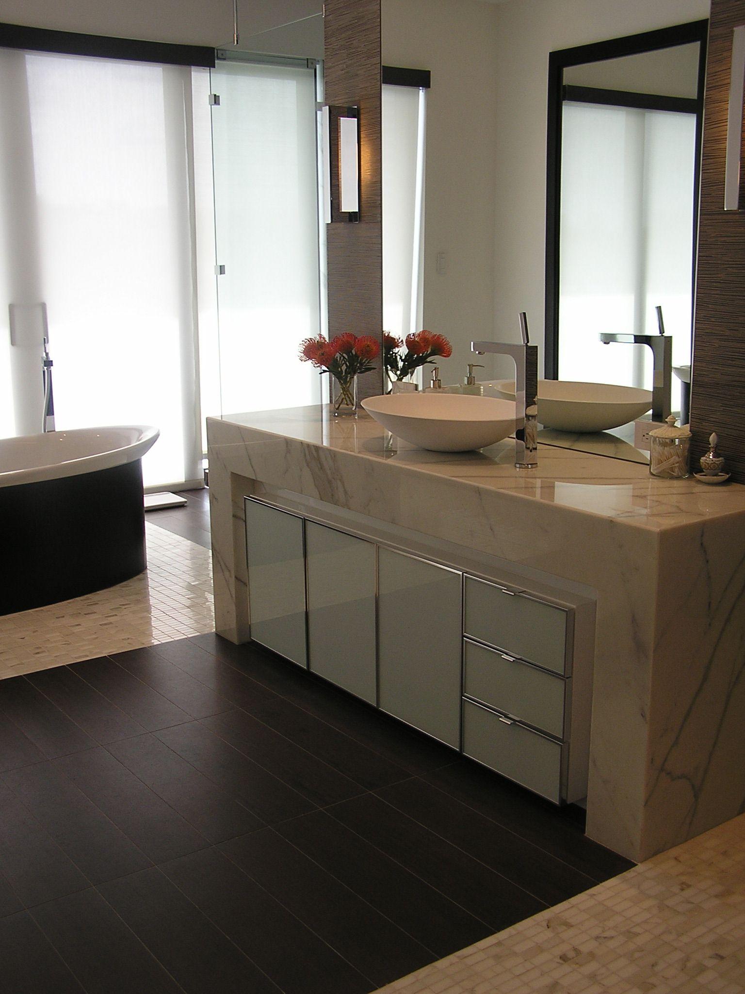 Davila Woodwork Inc Hallandale Fl Modern Vanity With Glass And