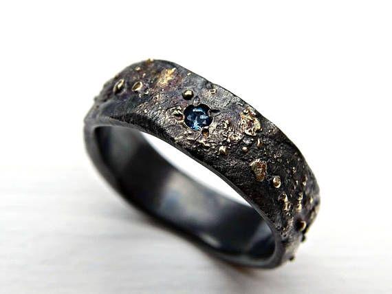 3b0785d1c03b1c mens wedding ring celtic, gem engagement ring gold silver, viking wedding  band, rustic mens ring, un