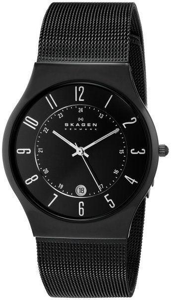 Skagen Herren-Armbanduhr Slimline Titan 233XLTMB