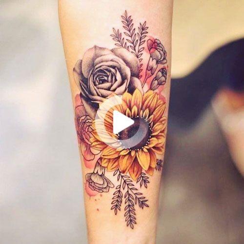 Blumen-Tattoos für Frauen - Die besten Tattoos für Frauen: nett, einzigartig und bedeutungsvolle Tattoo-Ideen für Mädchen - Get Kühlen Female Tattoos mit hübschen Design #tattoos #tattoosforwomen #tattooideas #tattoodesigns #tattoosforgirls #femaletattoos #SchmetterlingTattoo #inspirierendeTattoos #sinnvolletattoos #tattooideen