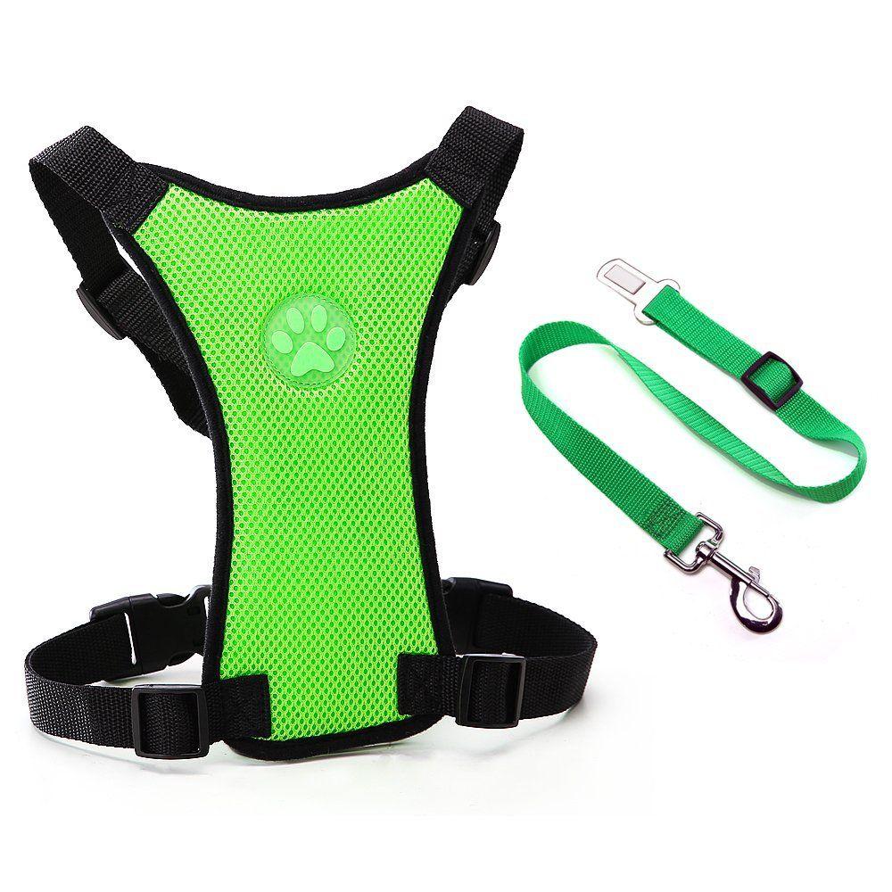 Dog Safety Vest Harness, Pet Dog Adjustable Car Safety
