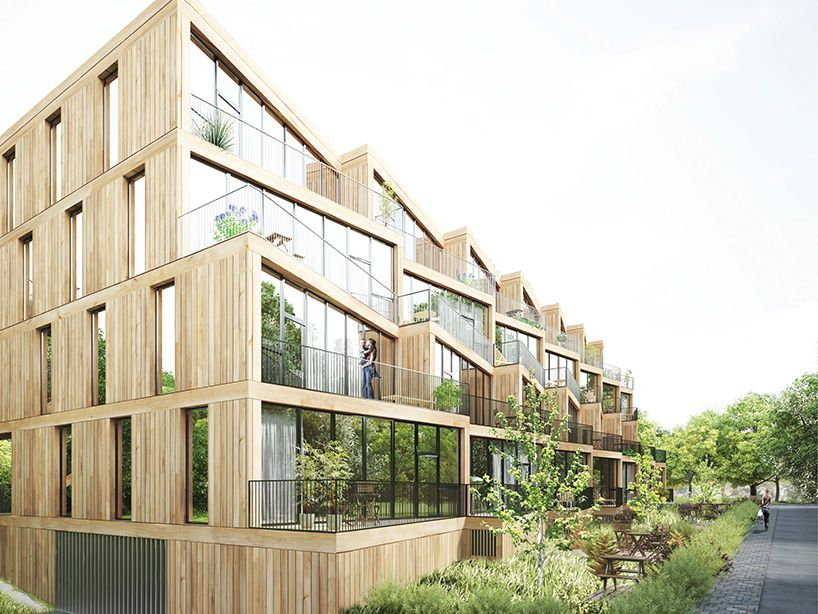NL architects + studyo design affordable 'terrace house' complex #arquitectonico