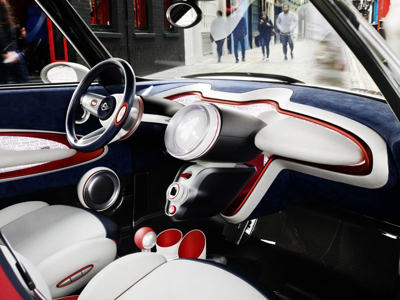 MINI Rocketman Concept-Interieur | My Style | Pinterest | Blau weiß ...