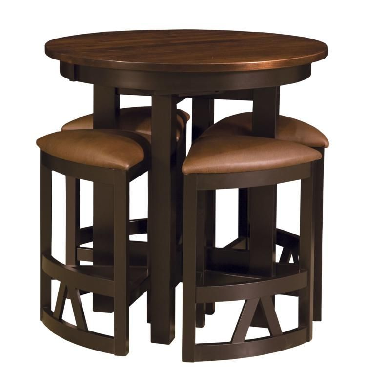 Best Bar Sets: La Rambla Round Wooden Pub Table In 2019