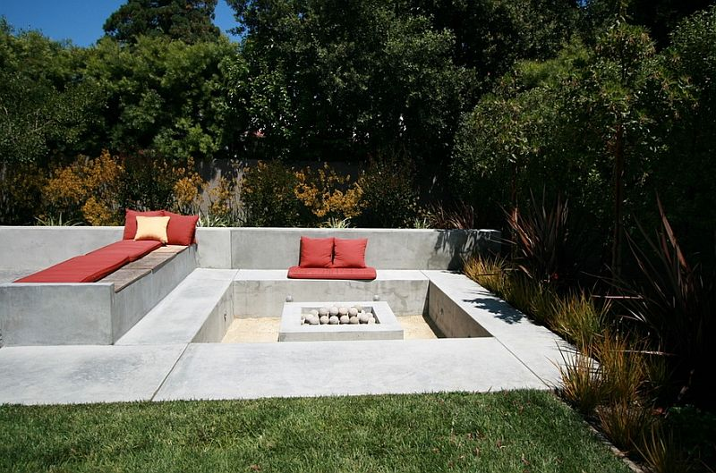 Lovely Create A Cool Conversation Pit Outdoors With Sunken Spaces