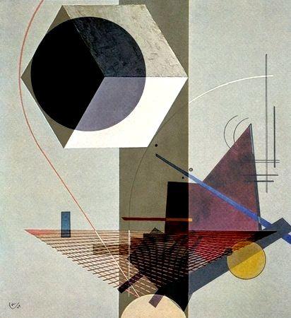 El Lissitzky 'PROUN 99' + #Vasily_Kandinsky 'Black ...