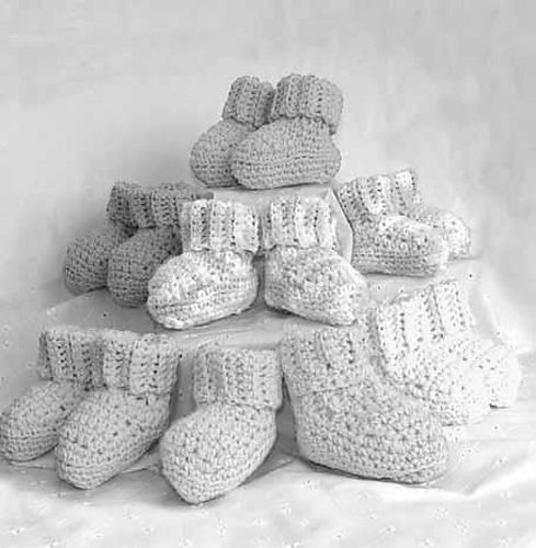 Free Crochet Baby Booties Pattern. | Free Crochet Baby Booties ...