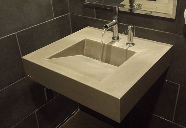 The Incline bathroom trough style sink for commercial and