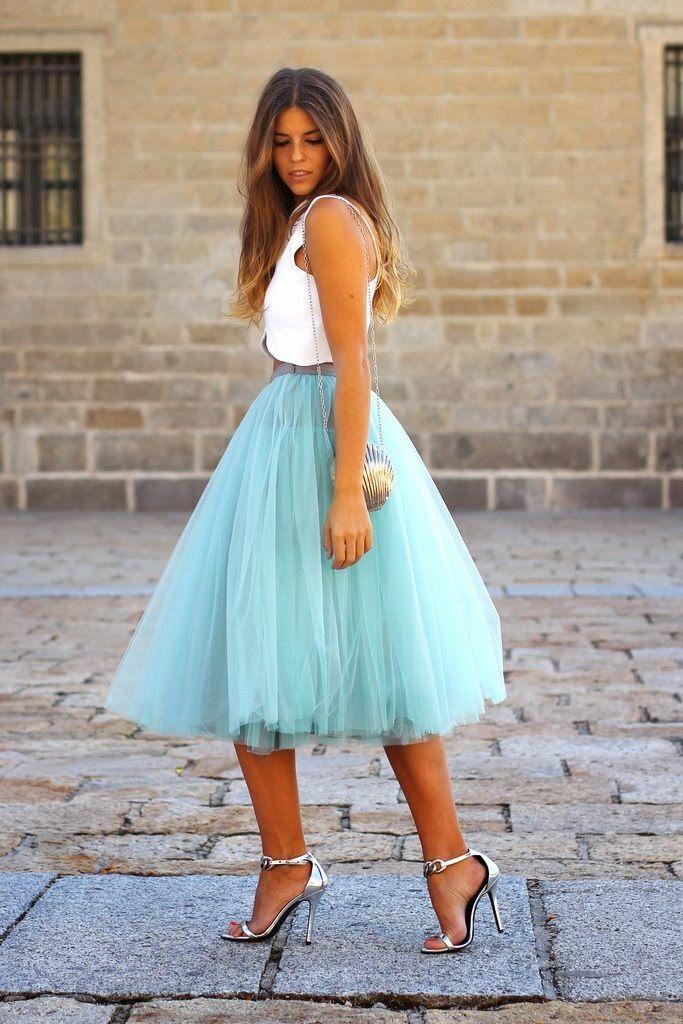 Vestidos de fiesta con falda de tul