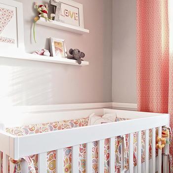 Beige Nursery Walls Transitional Nursery Finnian S Moon Interiors Pink And Gray Nursery Nursery Design Girl Baby Girl Room