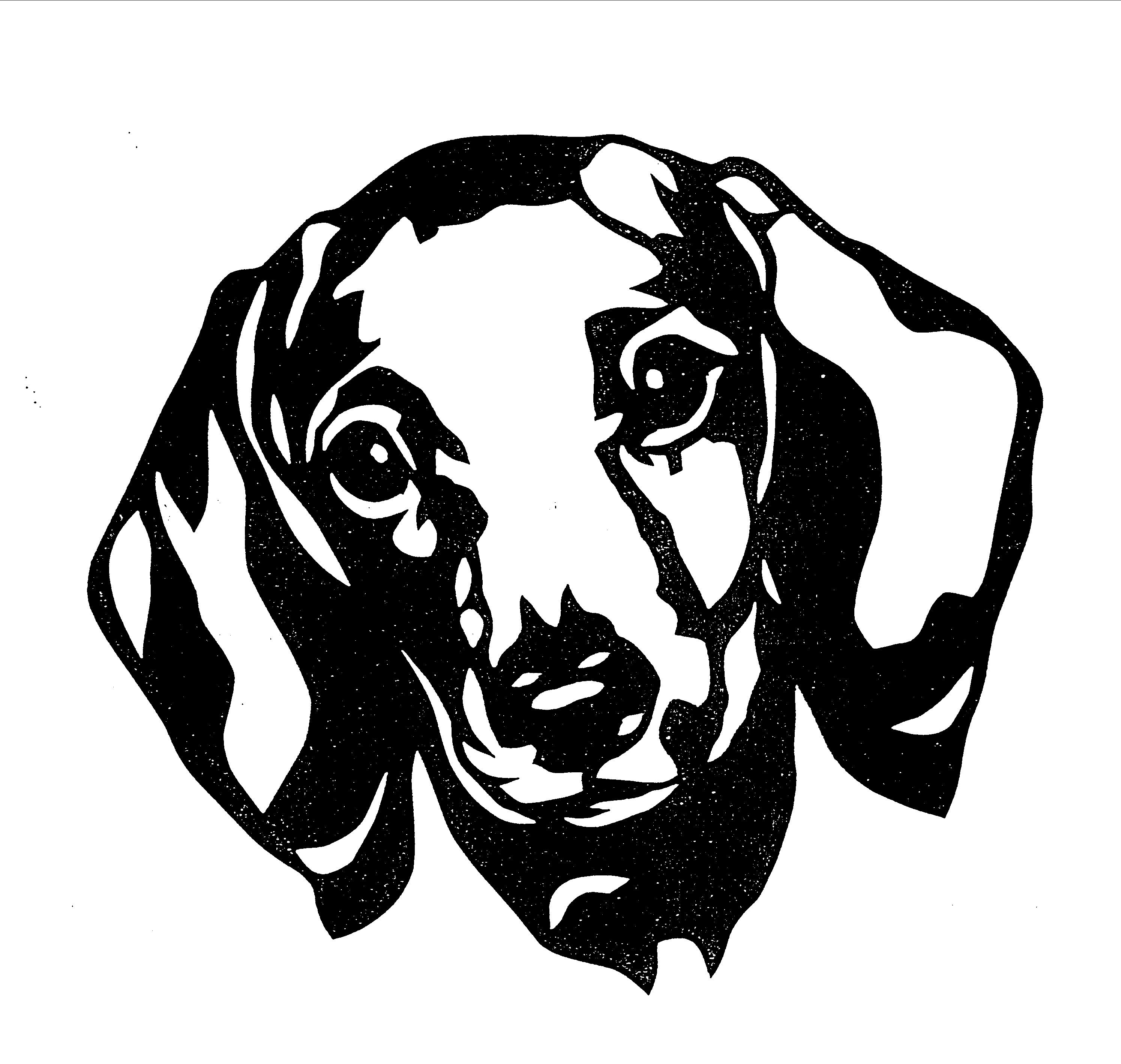 pinkayla fox on silhouette  dog stencil dog themed