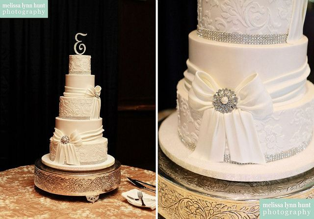 Maria by Creative Cake Designs (Christina), via Flickr- the only way I can think to do lace easily, stenciling ivory on ivory...