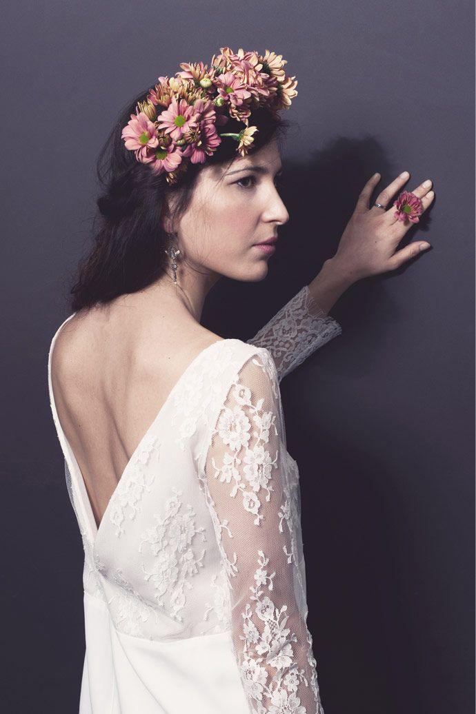 Robes de mariage civil et cocktail - Stéphanie Wolff Paris | Robe : Joséphine | Photographe : Alice Bee | Donne-moi ta main - Blog mariage
