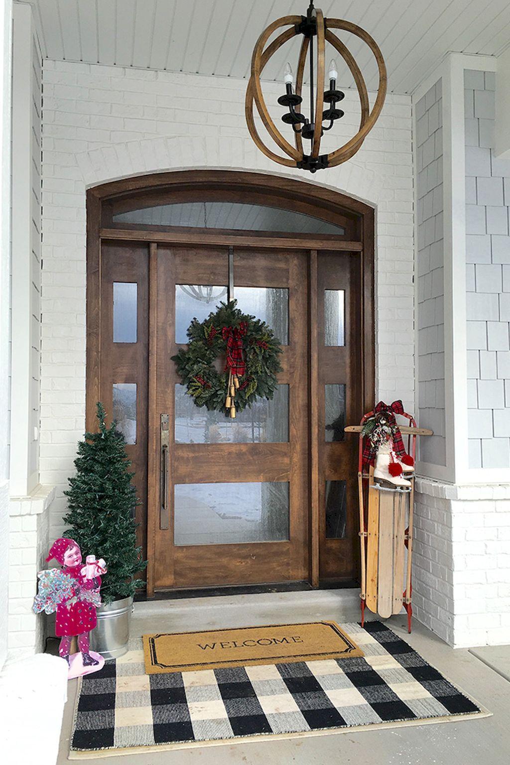 90 Awesome Front Door Farmhouse Entrance Decor Ideas 85
