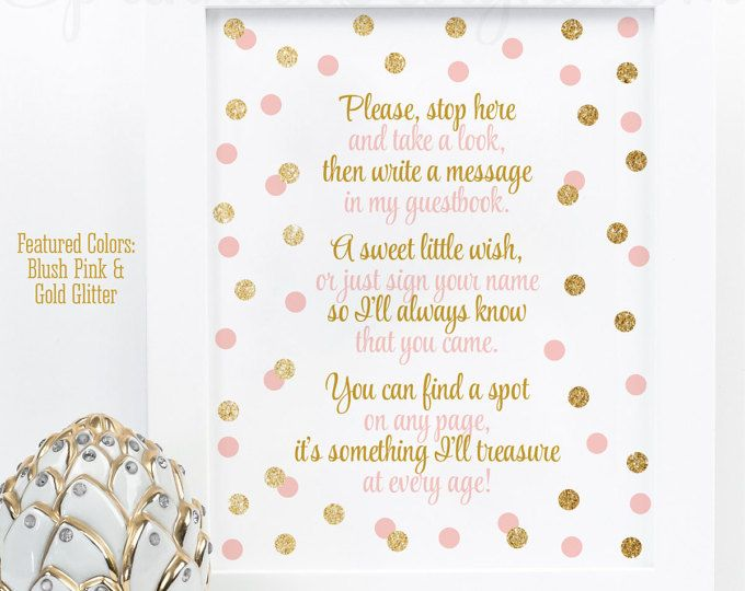 Guest Book Sign Twinkle Little Star Baby Shower Or Baby Girl