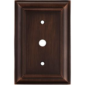 Allen And Roth Wall Plates Endearing Allen  Roth 1Gang Oilrubbed Bronze Coax Metal Wall Plate  New Inspiration Design