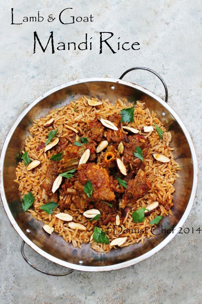 Lamb Goat Mandi Rice Arabian Spicy Roasted Lamb And Goat Meat