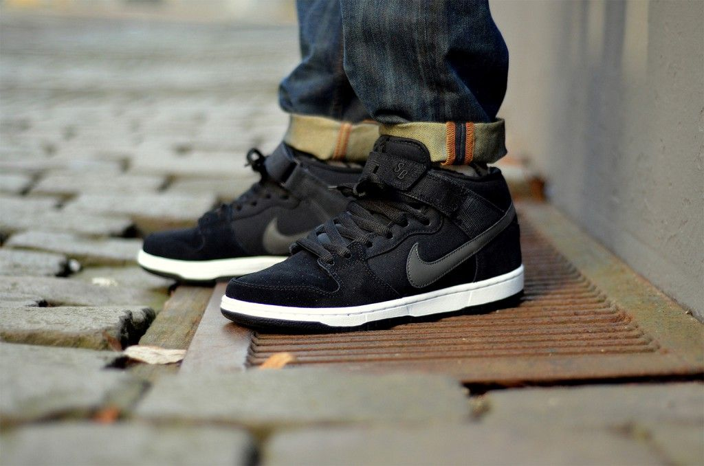 online store ee466 64f67 Nike SB Dunk Mid Pro Black/Charred Grey/White - Just bought ...