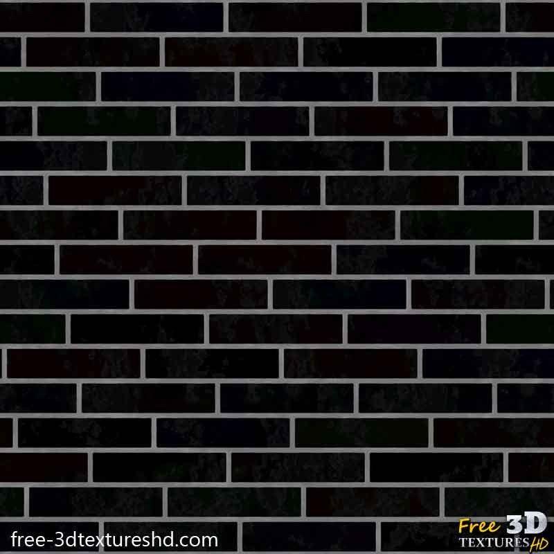 Modern Black Brick Wall Free Texture 3d Seamless Hd Free 3d Textures Hd Black Brick Wall Black Brick Free Textures