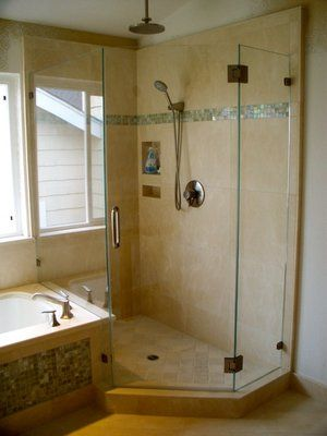 A Framless Neo-Angle Shower Enclosure wih tub deck | For the Home ...