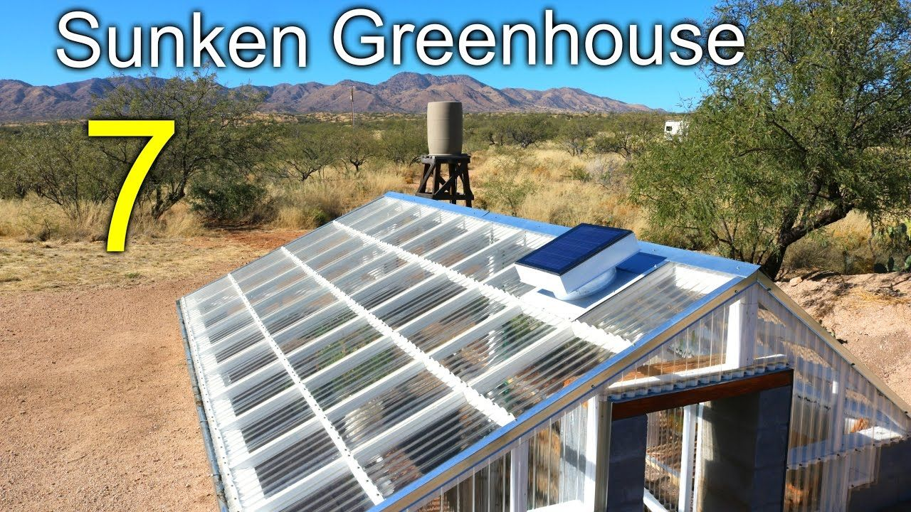 Sunken Greenhouse 7 Rainwater Harvesting Cooling Tunnel