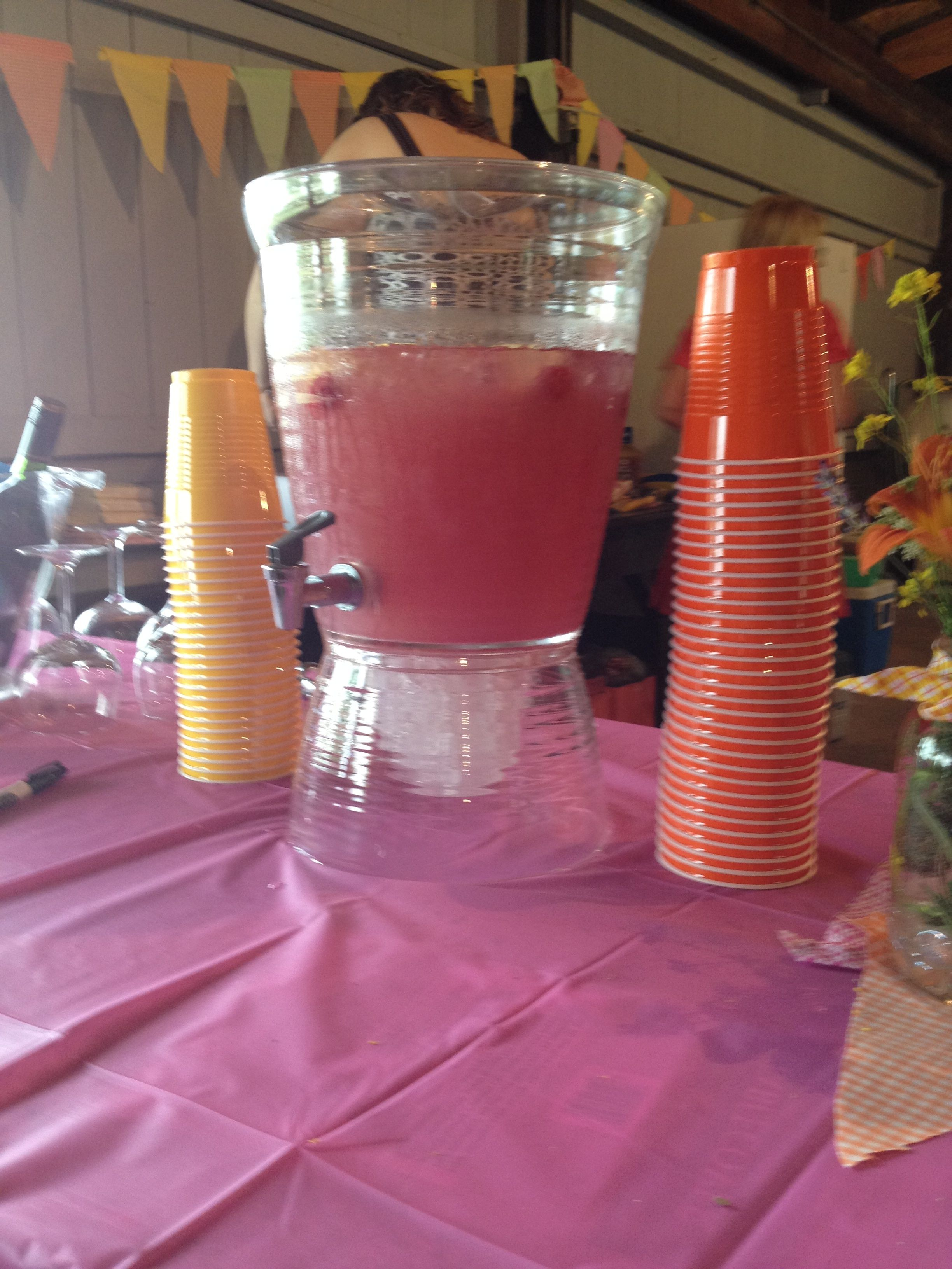 Raspberry lemonade with some raspberry vodka as the