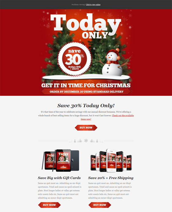Email christmas template images template design ideas this holiday and christmas email template comes with a responsive this holiday and christmas email template maxwellsz