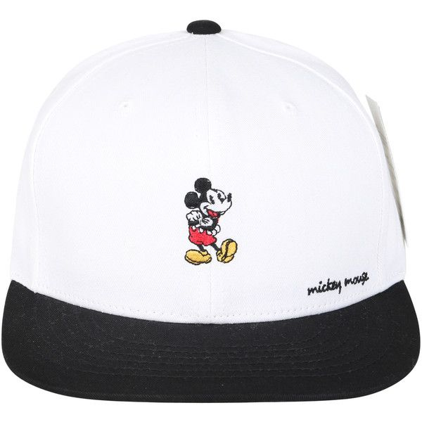 727a5b8a079bd1 Disney Mickey Mouse Embroidery Flat Bill Trucker Hat Baseball Cap ($18) ❤  liked on