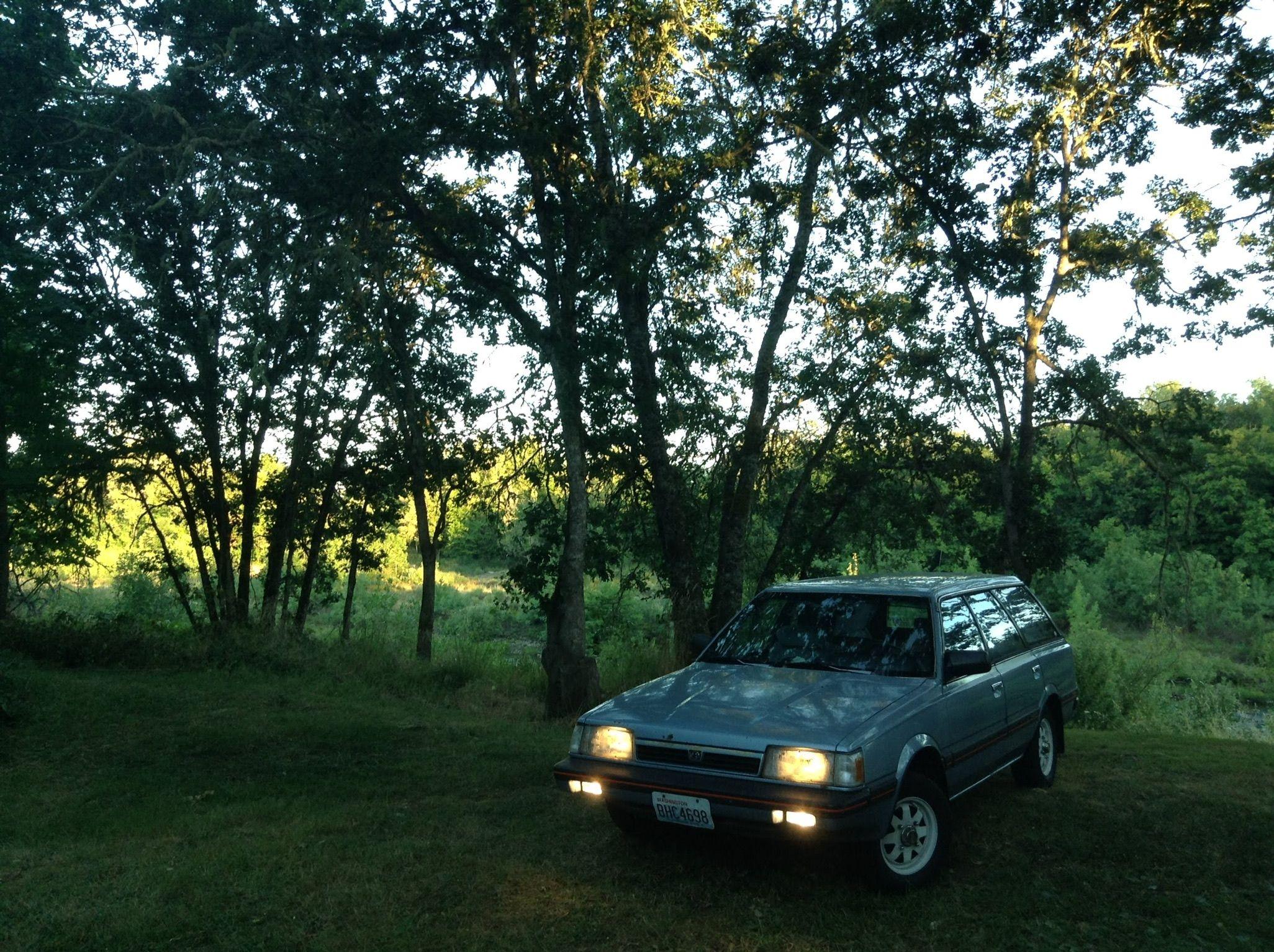 A Subie frolicking in its natural environment. Subaru