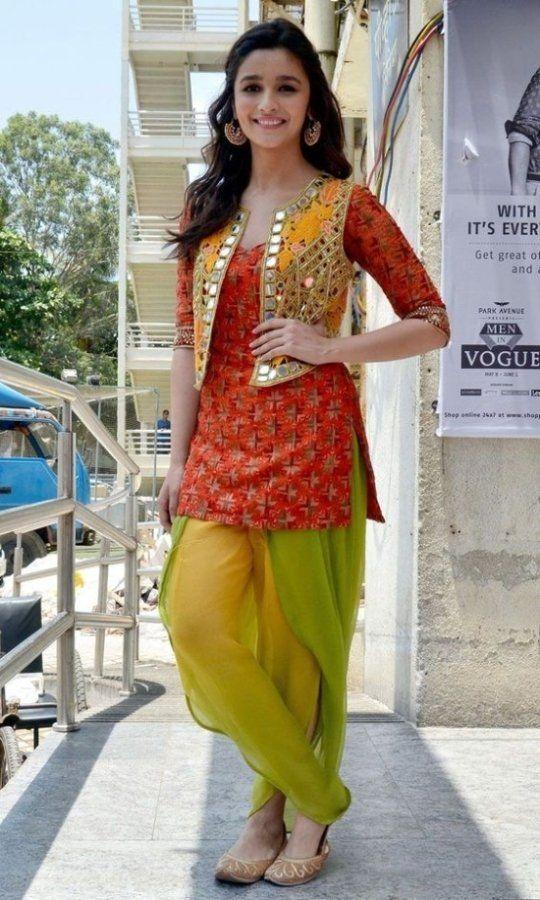 Alia Bhatt in Dhoti Shalwar cute pictures, images, photos