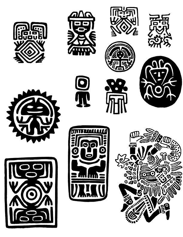 Símbolos Mayas Tatouages Símbolos Aztecas Arte Precolombino Y