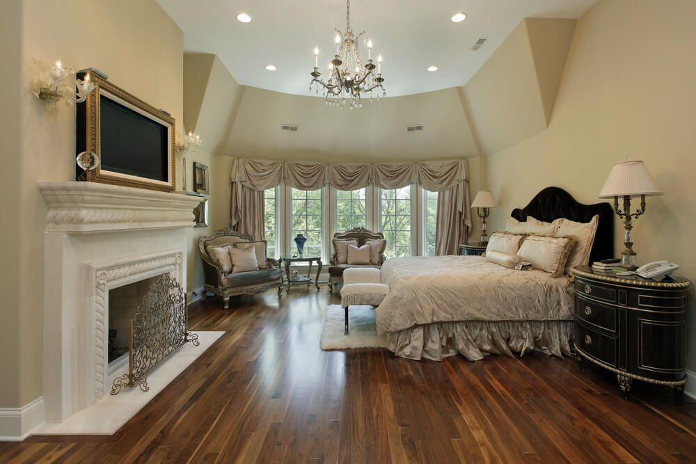 32 Bedroom Flooring Ideas Wood Floors Luxury Bedroom Master Master Bedroom Sitting Area Master Bedroom Layout