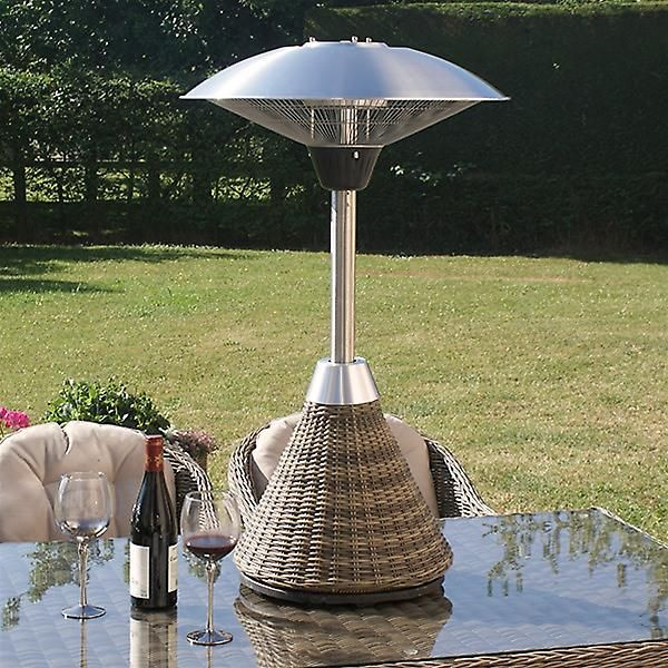 Maze Rattan Winchester Electric Table Top Patio Heater 2kw Heaters Fruugo United Kingdom