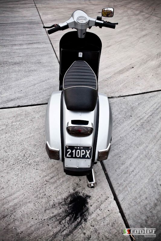 From mild to slightly wild…Vespa PX 200 | S.S Scooter Engineering